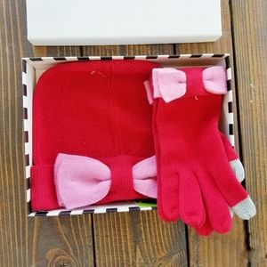 Kate Spade Beanie and Glove Bow Box Set